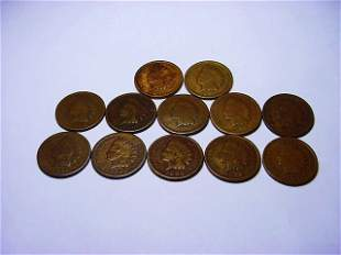 [12] INDIAN CENTS