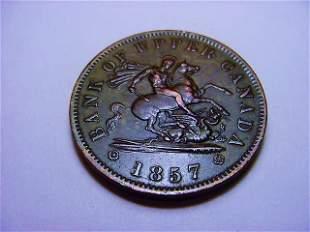 1857 CANADA PENNY BANK TOKEN