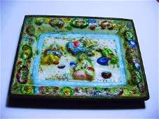 ANTIQUE CHINESE ENAMEL METAL DISH