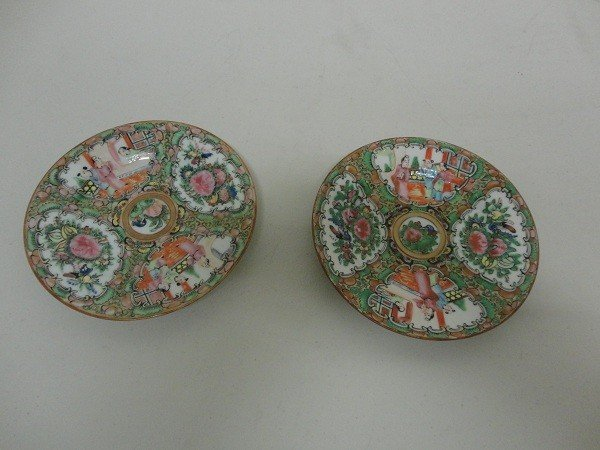 2: A pair of Chinese Famille Rose Dishes