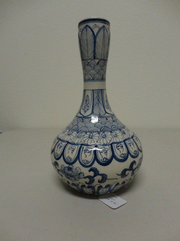 4: Decorative Chinese Blue White Porcelain bottle