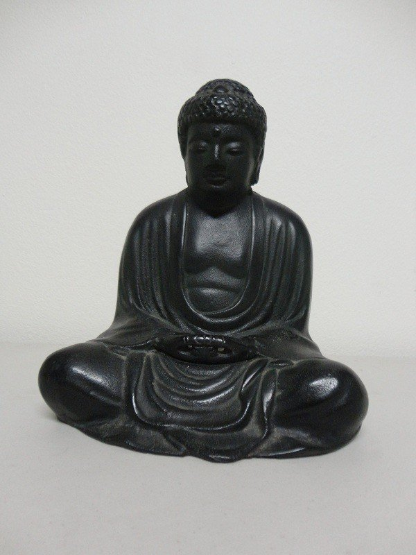 6: Japanese Iron cast budda