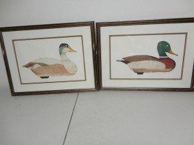 Pair Of Mallard Ducks Lithograph Limited Edition