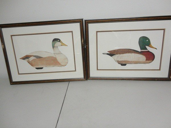 19: Pair of Mallard Ducks lithograph limited edition