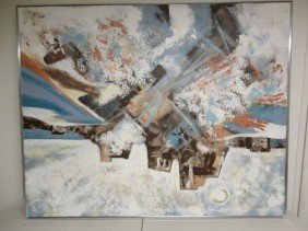 20: Huge oil painting of Abstract Seascape