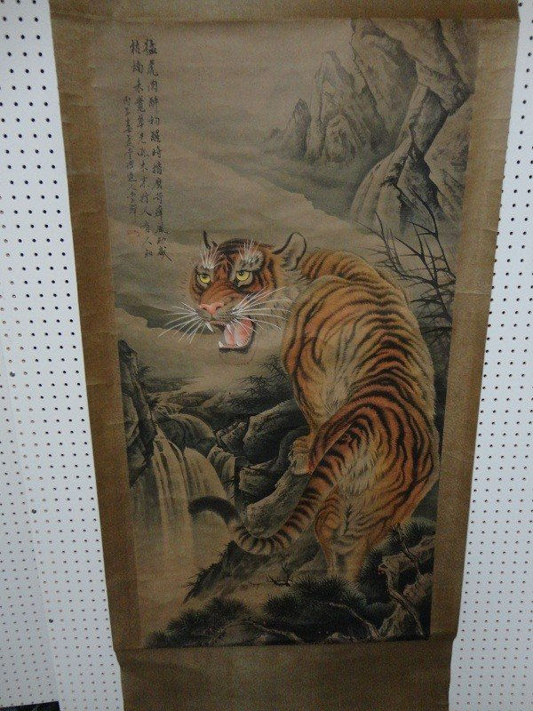 23: Chinese Tiger scroll by Li Shan?