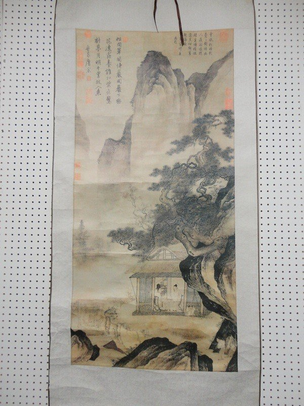47: Song Dynasty Chinese landscape scroll print
