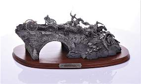 Burnside's Bridge Pewter Sculpture by