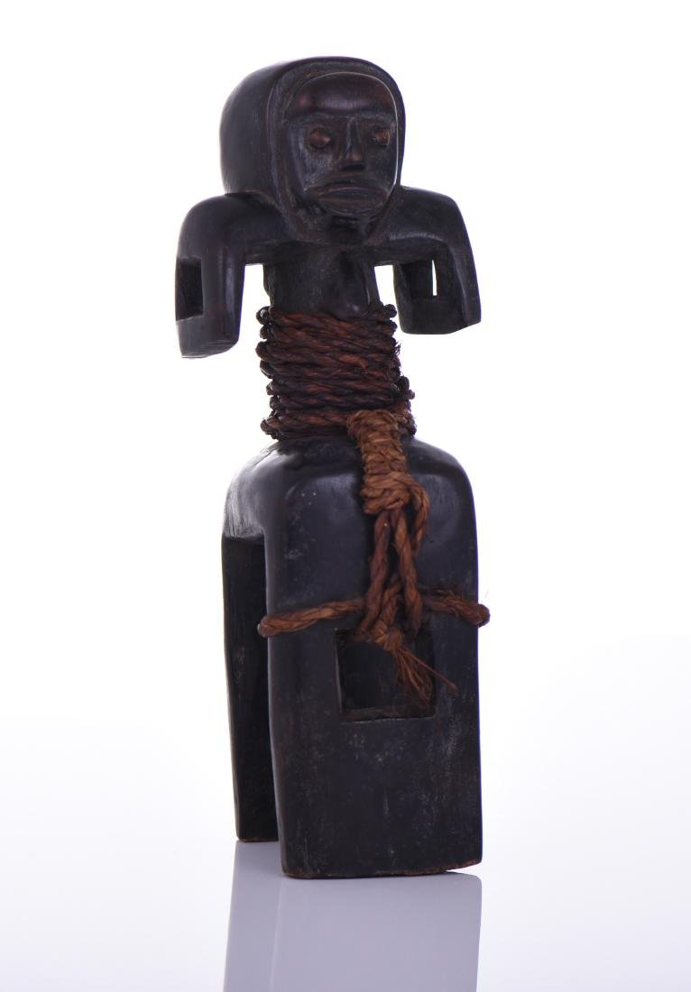 African Fang Anthropomorphic Wood Heddle Pull
