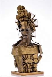 Lee Menichetti, Brass Brutalist Sculpture. Me
