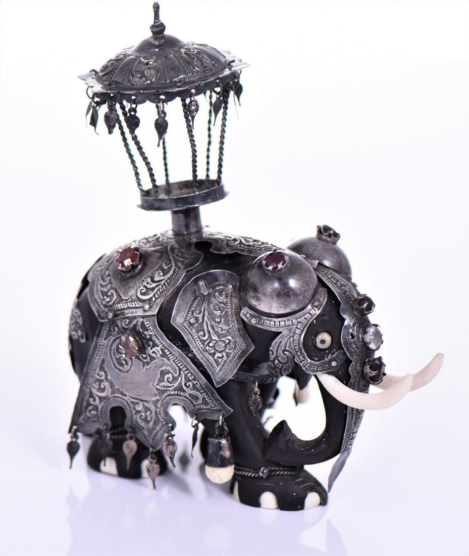Sri Lankan Sterling Silver Ebony Gemstone Ele
