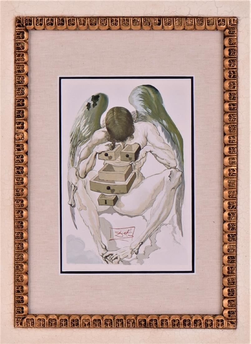 Salvador Dali Woodcut, Divine Comedy, Purgatory - 2