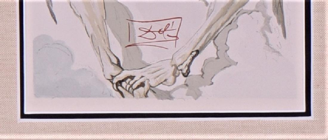 Salvador Dali Woodcut, Divine Comedy, Purgatory - 3