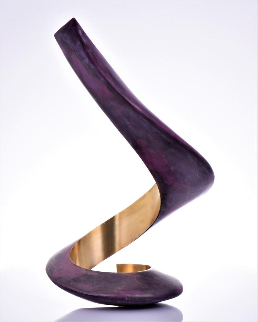Lou Pearson, Titled Ringo, A Modern Brass Painted