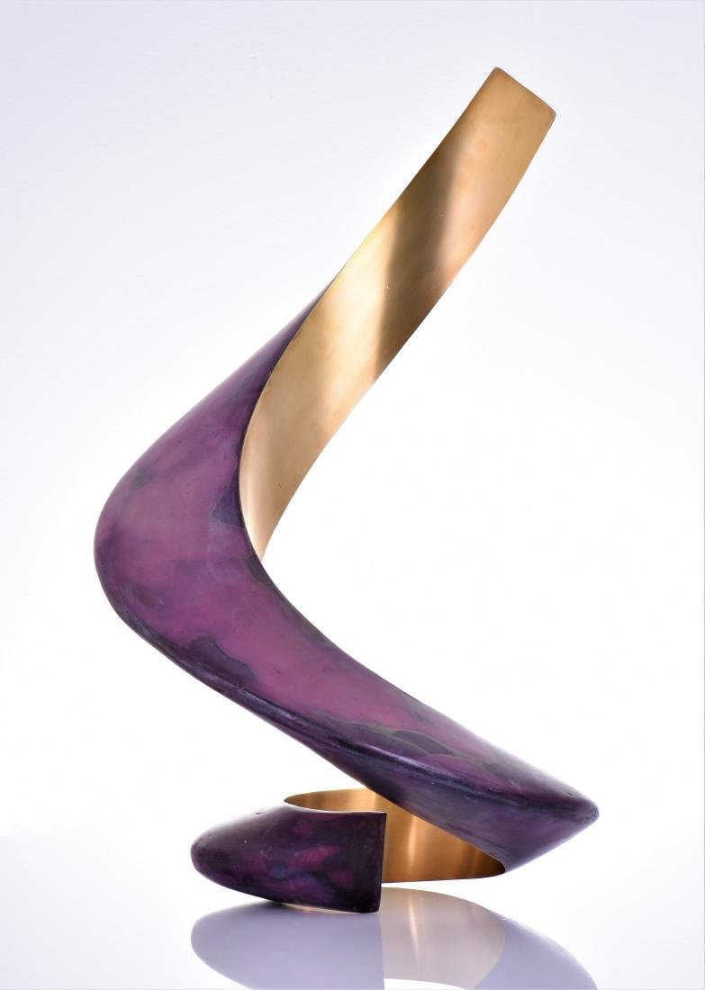 Lou Pearson, Titled Ringo, A Modern Brass Painted - 3