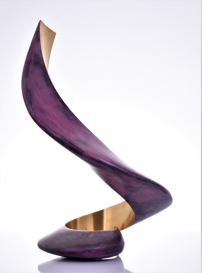 Lou Pearson, Titled Ringo, A Modern Brass Painted - 4