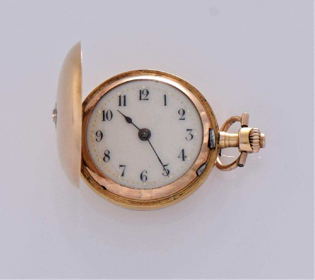 Antique Rare 56 14K Gold, 0.585 Pocket Watch With - 2