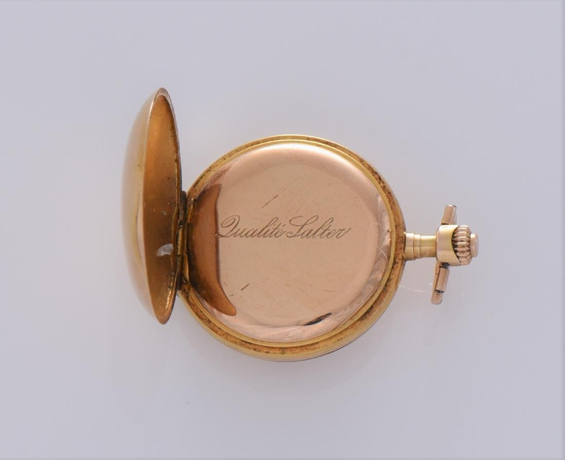Antique Rare 56 14K Gold, 0.585 Pocket Watch With - 4