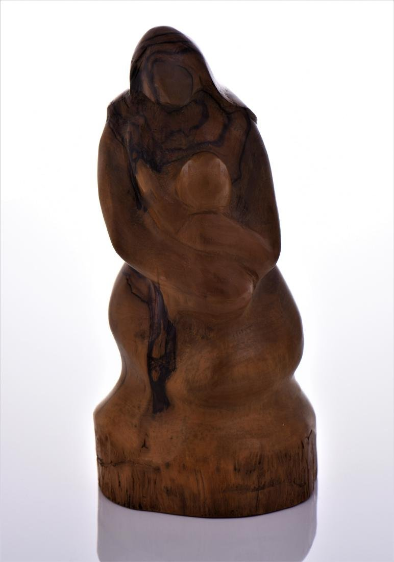 Leon Bronstein (1951-), Mother And Child Olive Wood