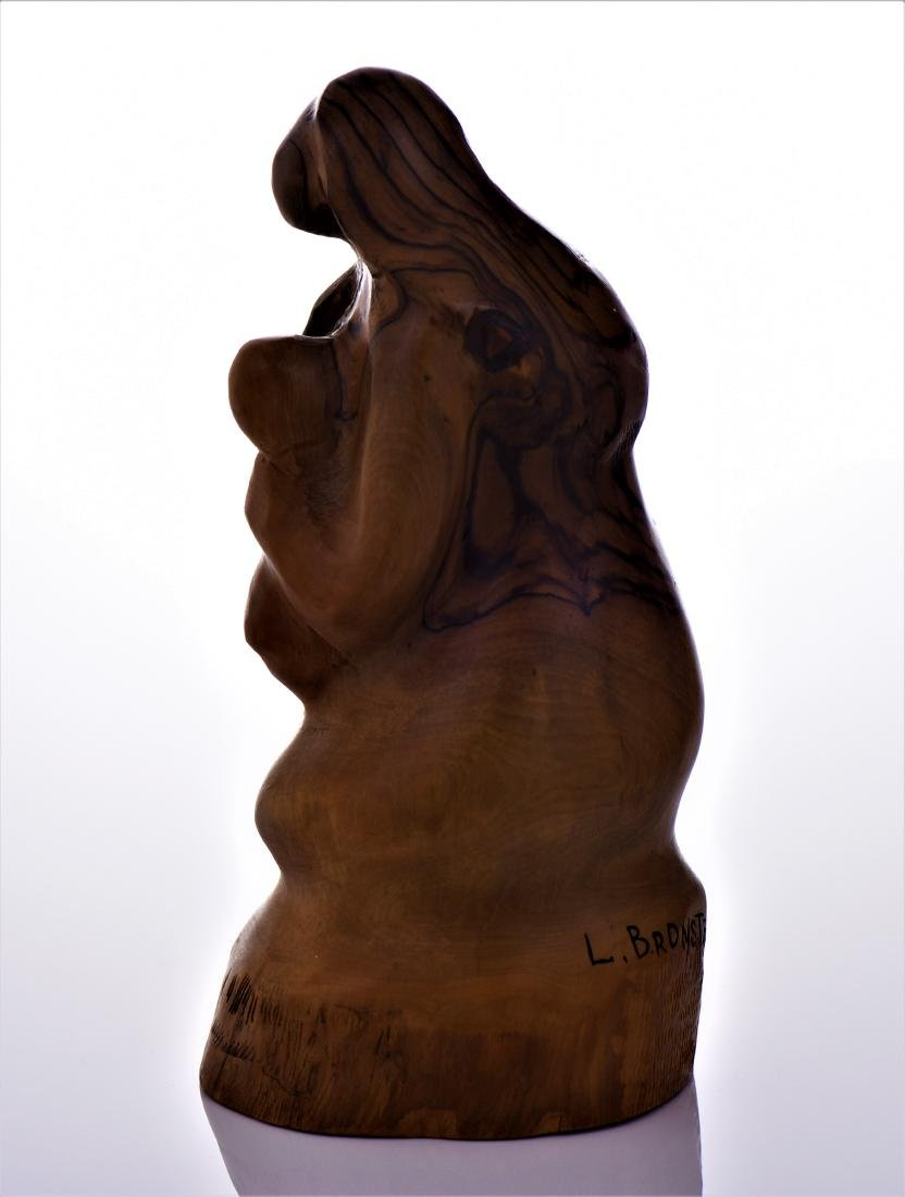 Leon Bronstein (1951-), Mother And Child Olive Wood - 2