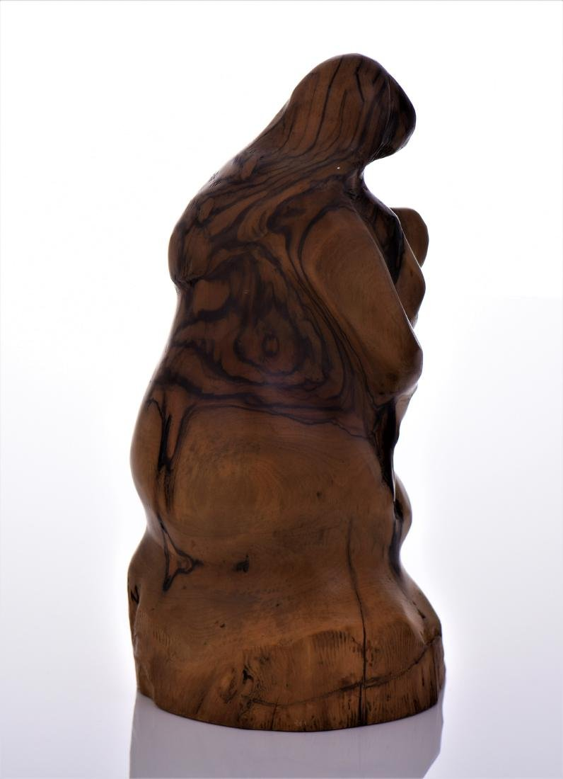 Leon Bronstein (1951-), Mother And Child Olive Wood - 3