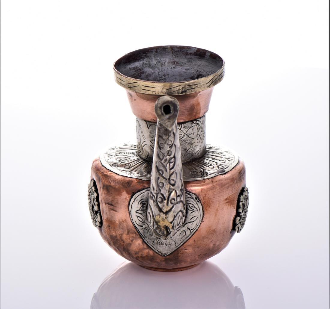Antique Tibetan Silver Copper And Brass Dragon Tea - 4