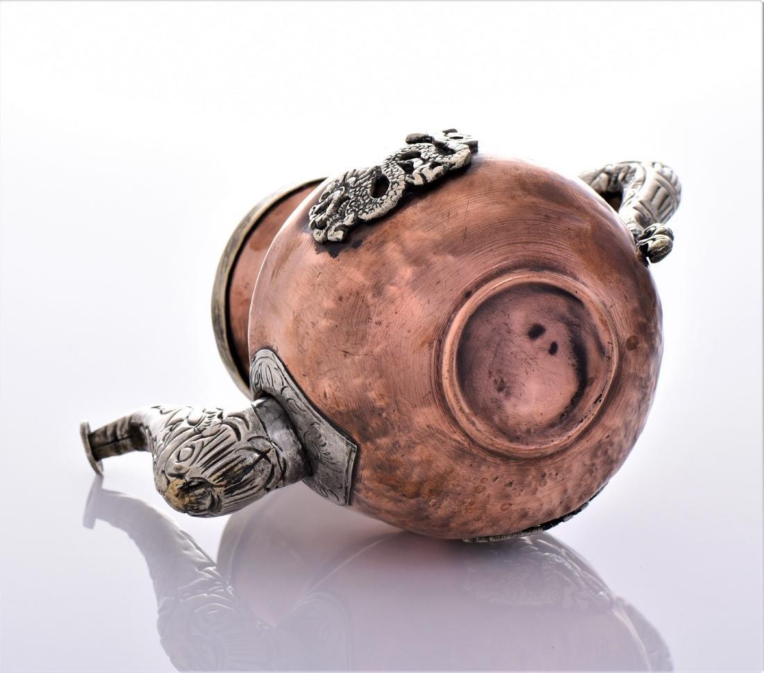 Antique Tibetan Silver Copper And Brass Dragon Tea - 6