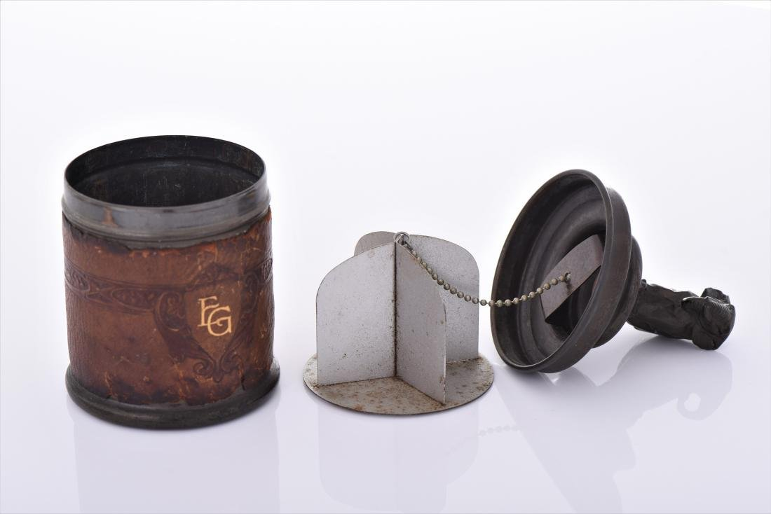 Cigarette Tin Caddy With An Art Deco Elephant - 5