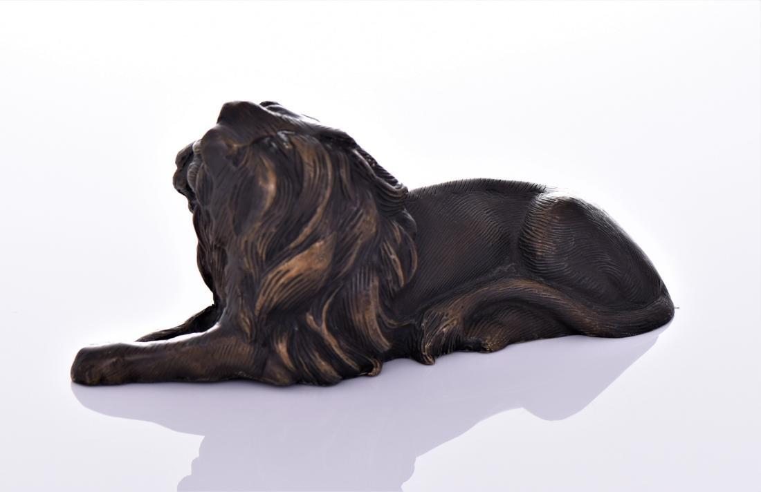 Vintage Bronze Lion. - 3