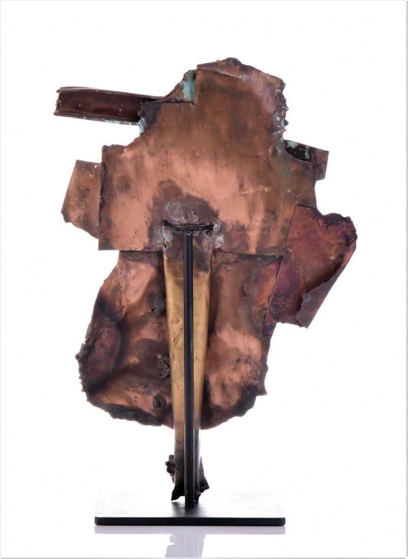 Vintage Copper Steam Punk Face Sculpture. - 3