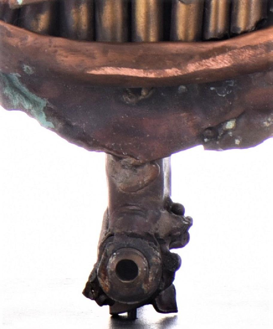Vintage Copper Steam Punk Face Sculpture. - 7