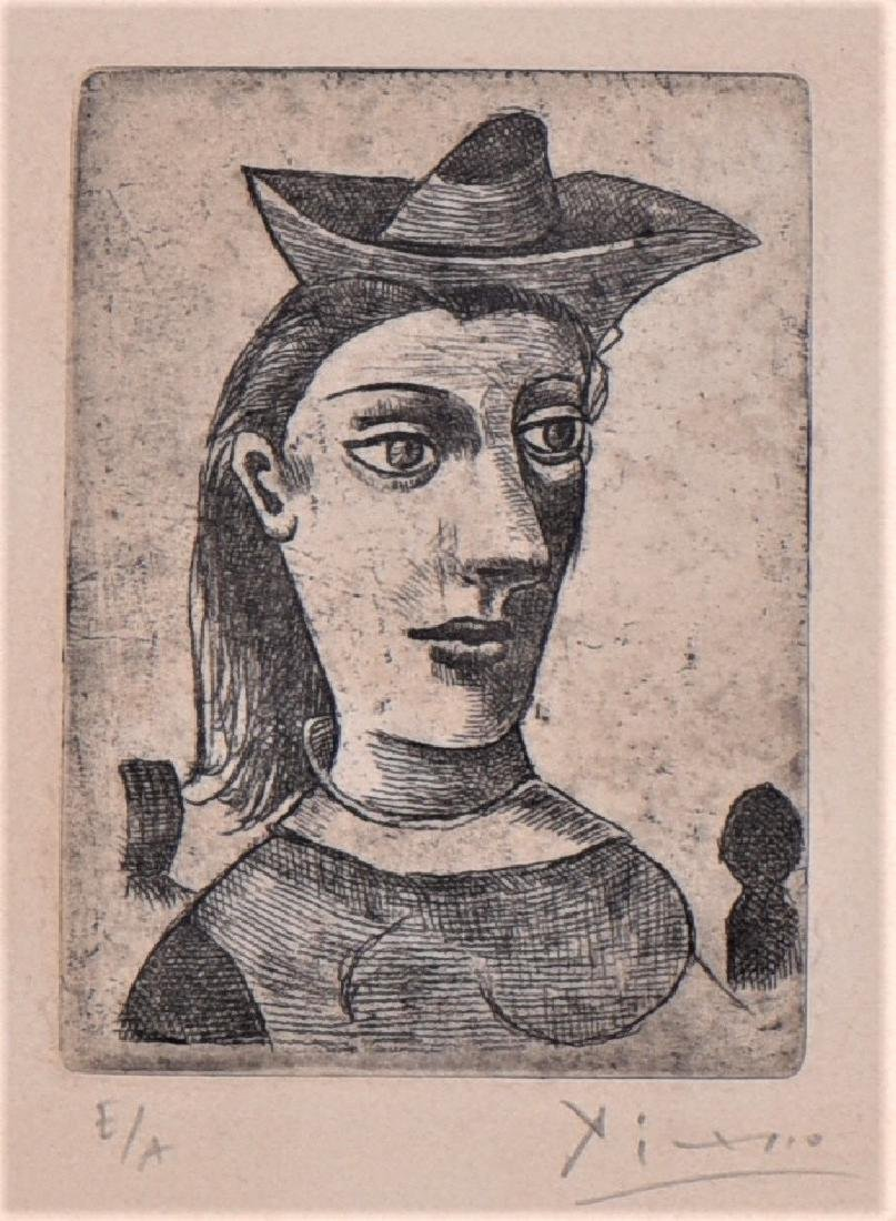 Signed Picasso Etching, Artist Proof Edition - 2