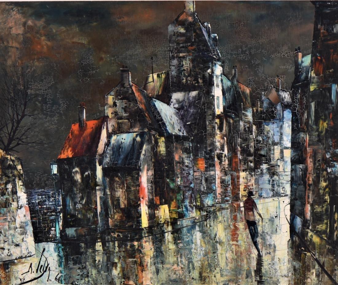 Abstract Mid Century Modern European City Scape. - 2