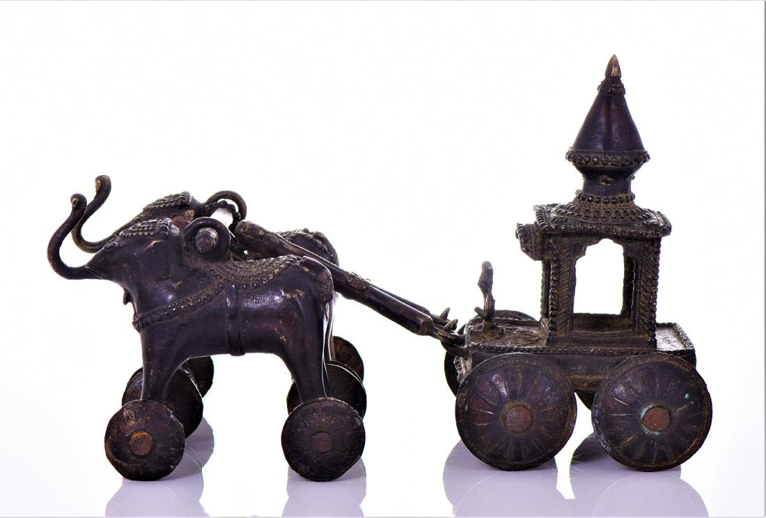 Rare Antique Bronze Jagannath Temple toy of a - 3