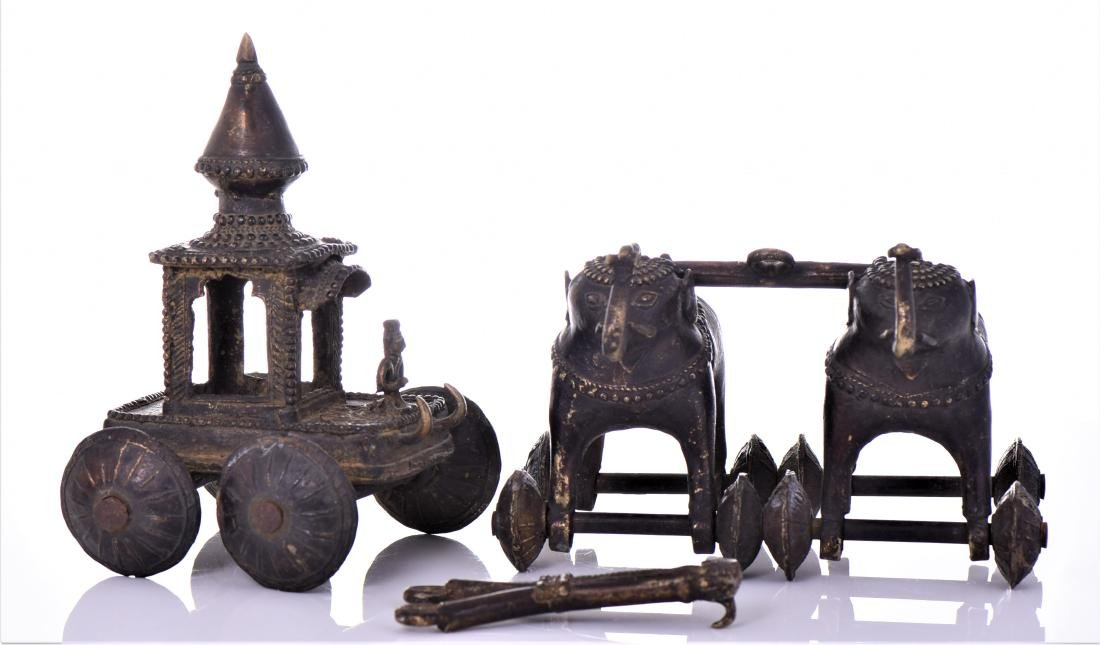 Rare Antique Bronze Jagannath Temple toy of a - 8