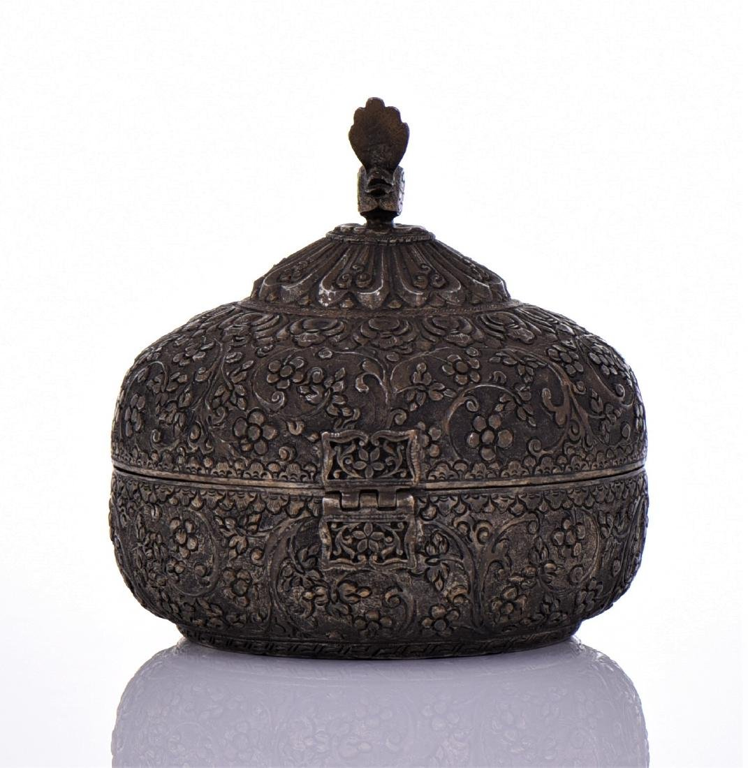 Indian Antique Hand Crafted Engraved Metal Chapati - 3