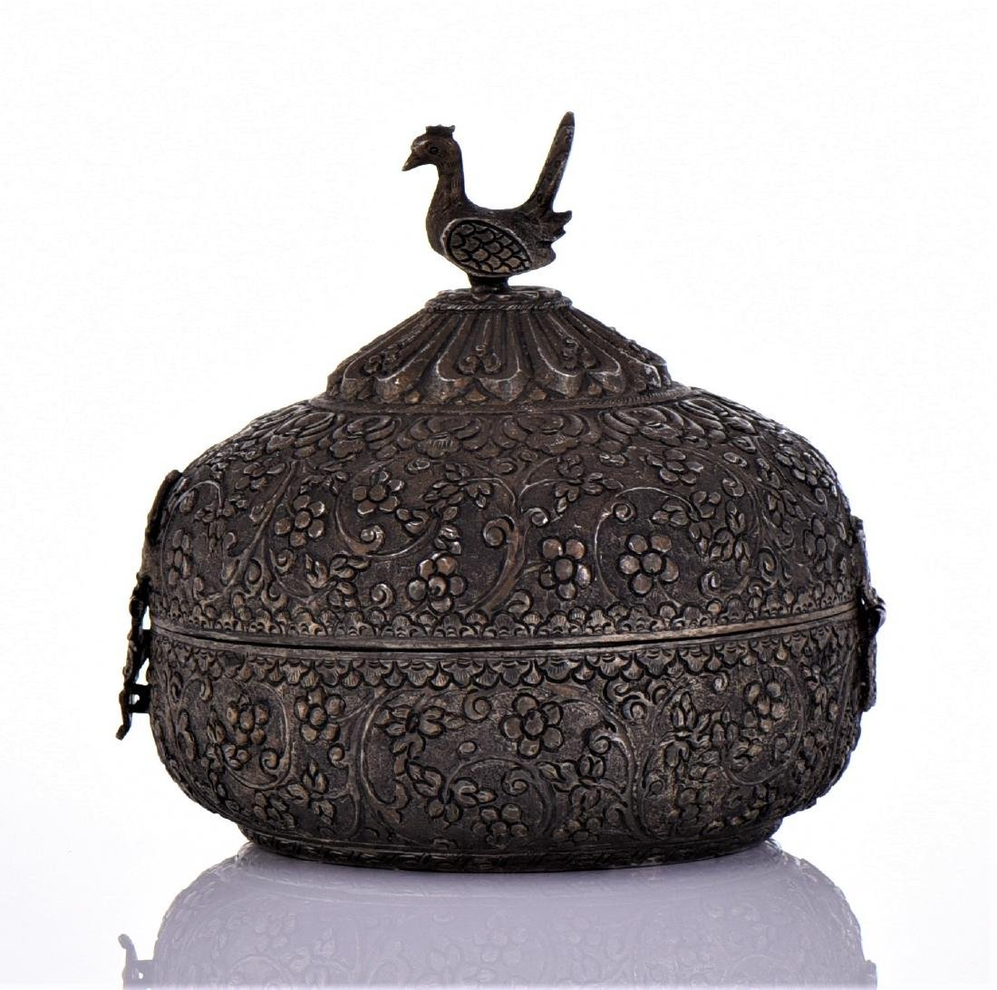 Indian Antique Hand Crafted Engraved Metal Chapati - 4