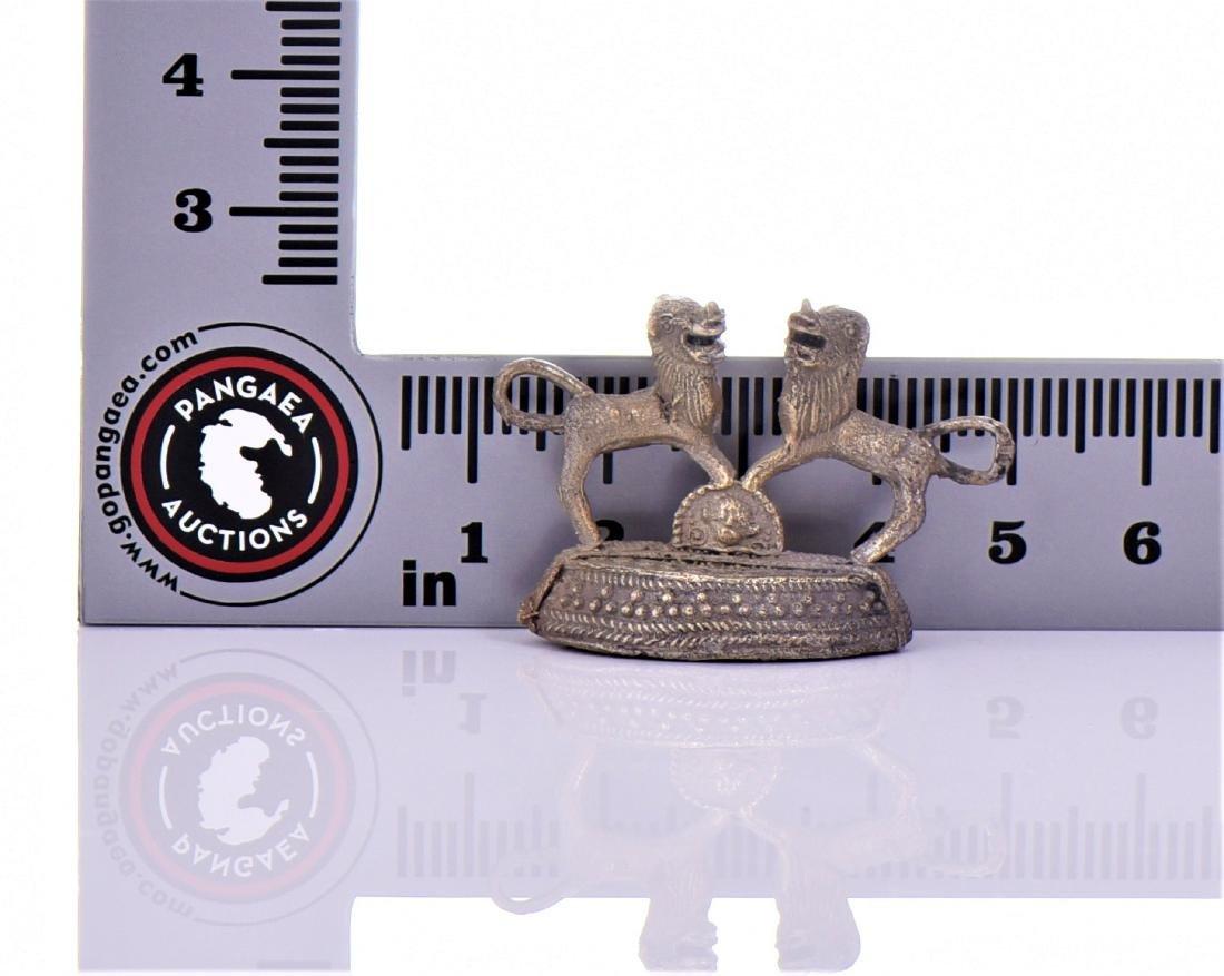 Antique Indian Brass Foot Scraper Depicting Two - 4