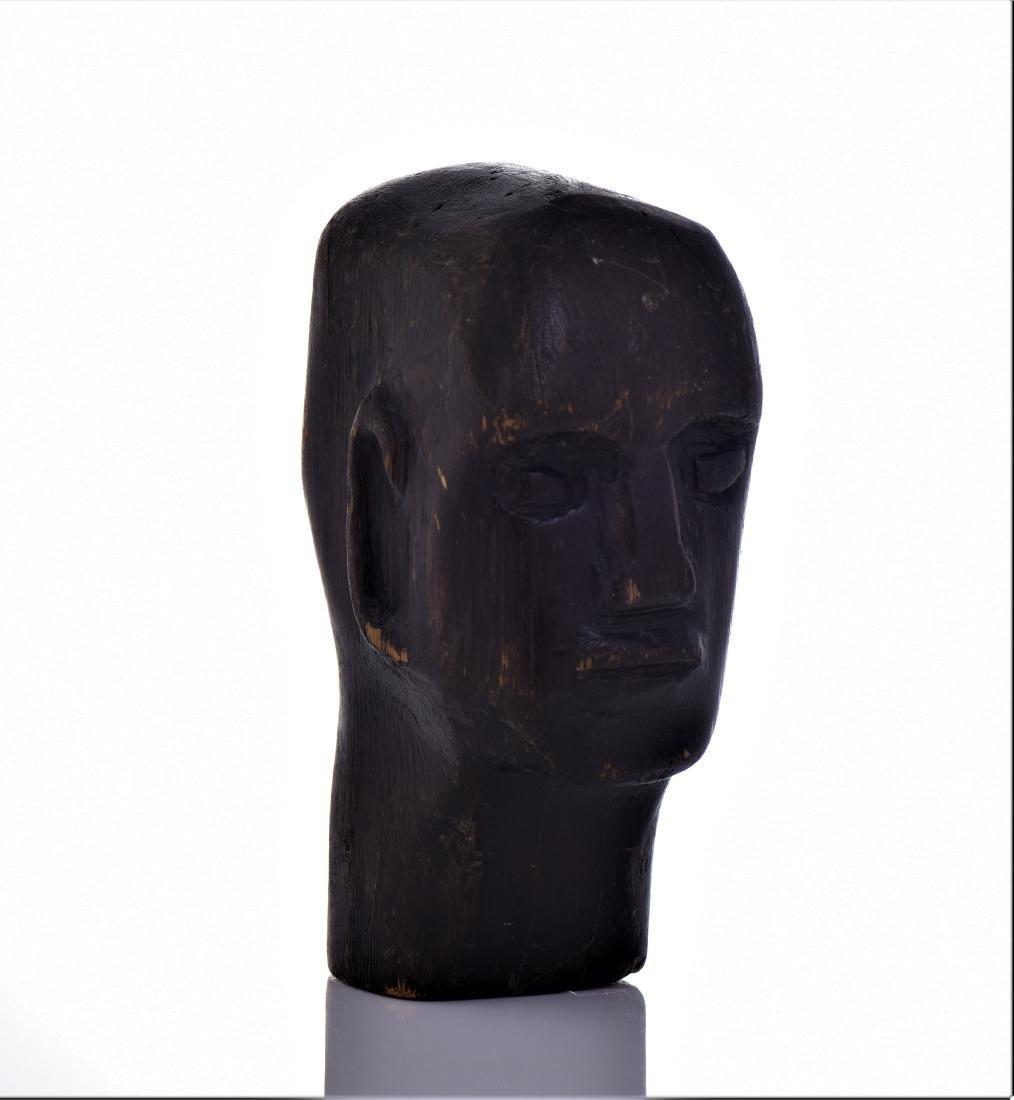 Mid Century Modern Wood Head Carving.