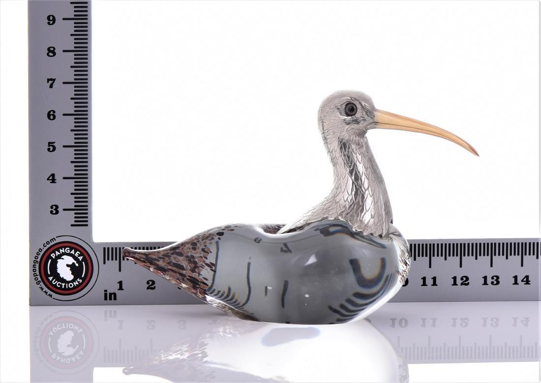 Vintage Murano Blown Glass Long Billed Curlew Bird - 5