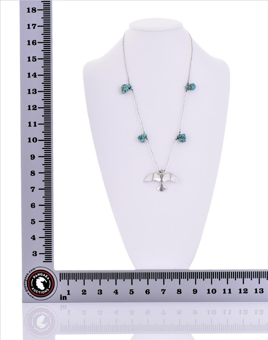 Native American South West Blue Turquoise Sterling - 5