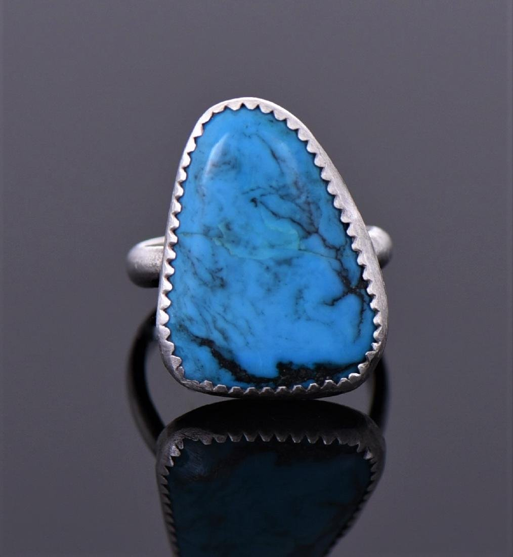 Native American Sterling Silver Blue Turquoise