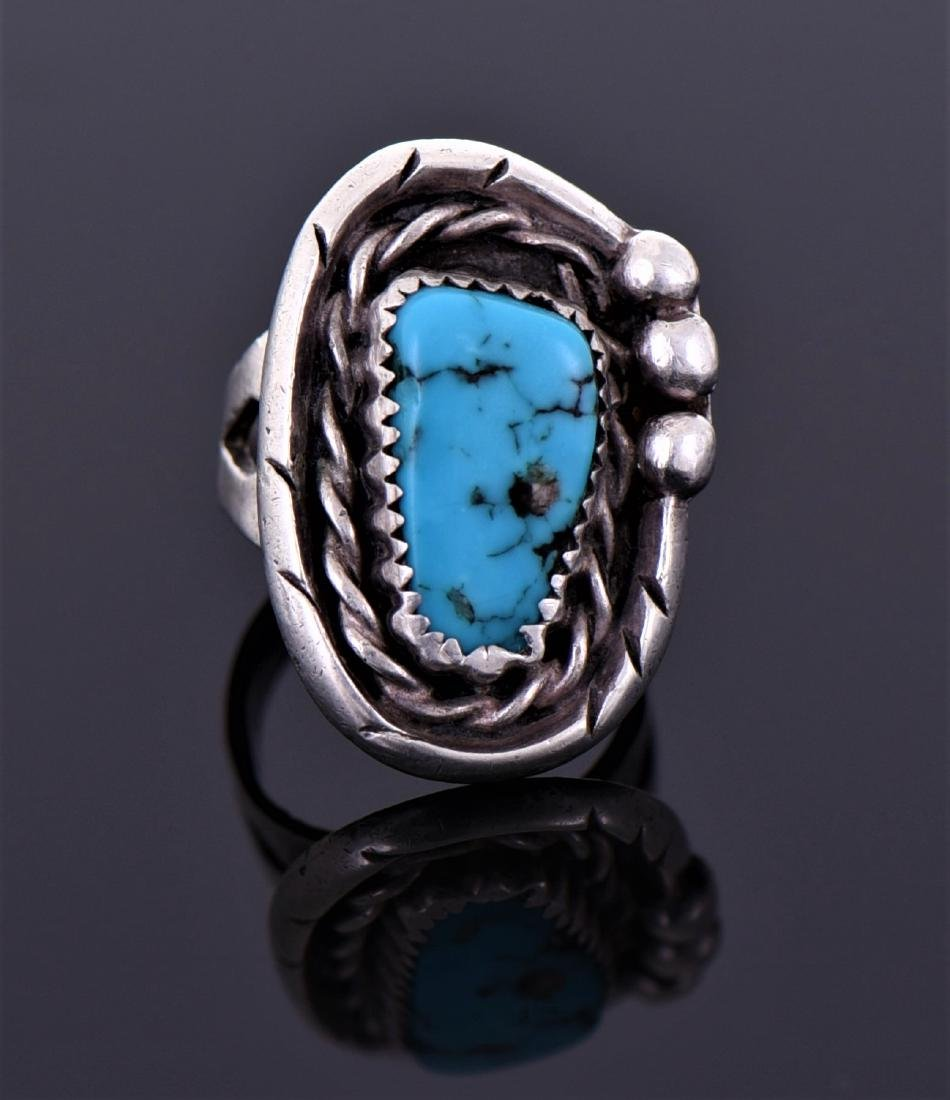Native American Southwest Turquoise Ring
