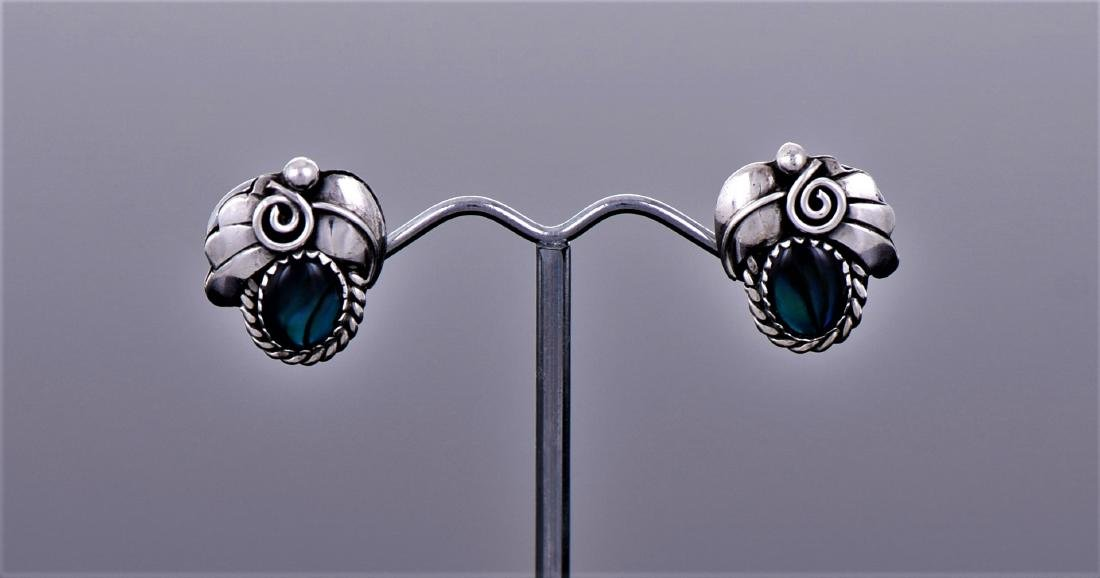 Native American Blue Stone Sterling Silver Earring