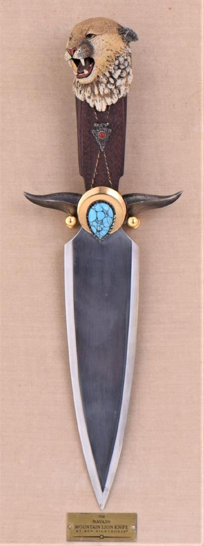 The Navajo Mountain Lion Knife By Ben Nighthorse. - 2
