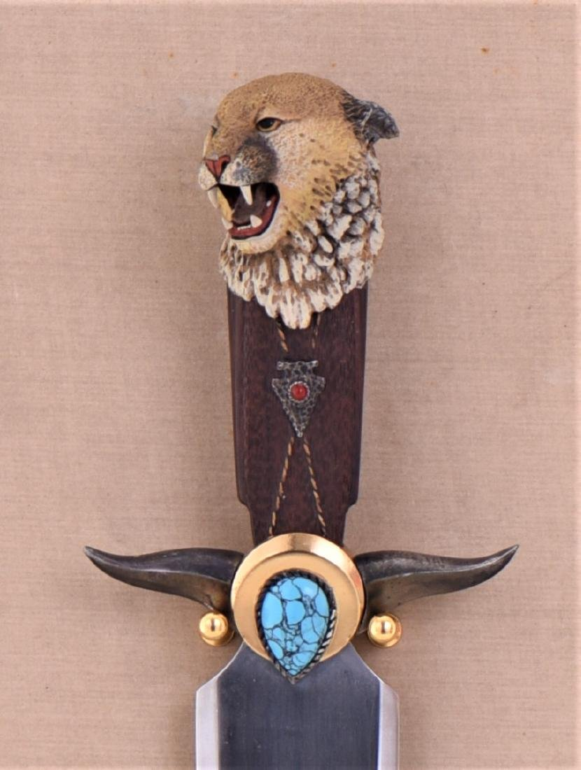The Navajo Mountain Lion Knife By Ben Nighthorse. - 3