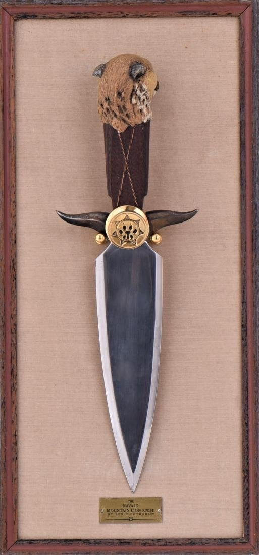 The Navajo Mountain Lion Knife By Ben Nighthorse. - 5