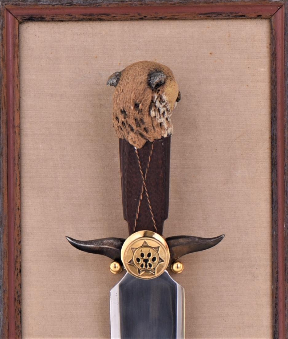 The Navajo Mountain Lion Knife By Ben Nighthorse. - 6