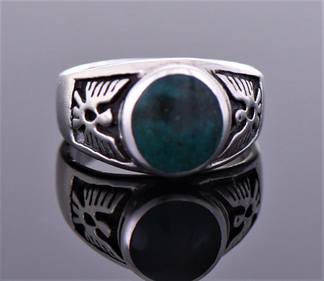 Native American Green Turquoise Sterling Silver