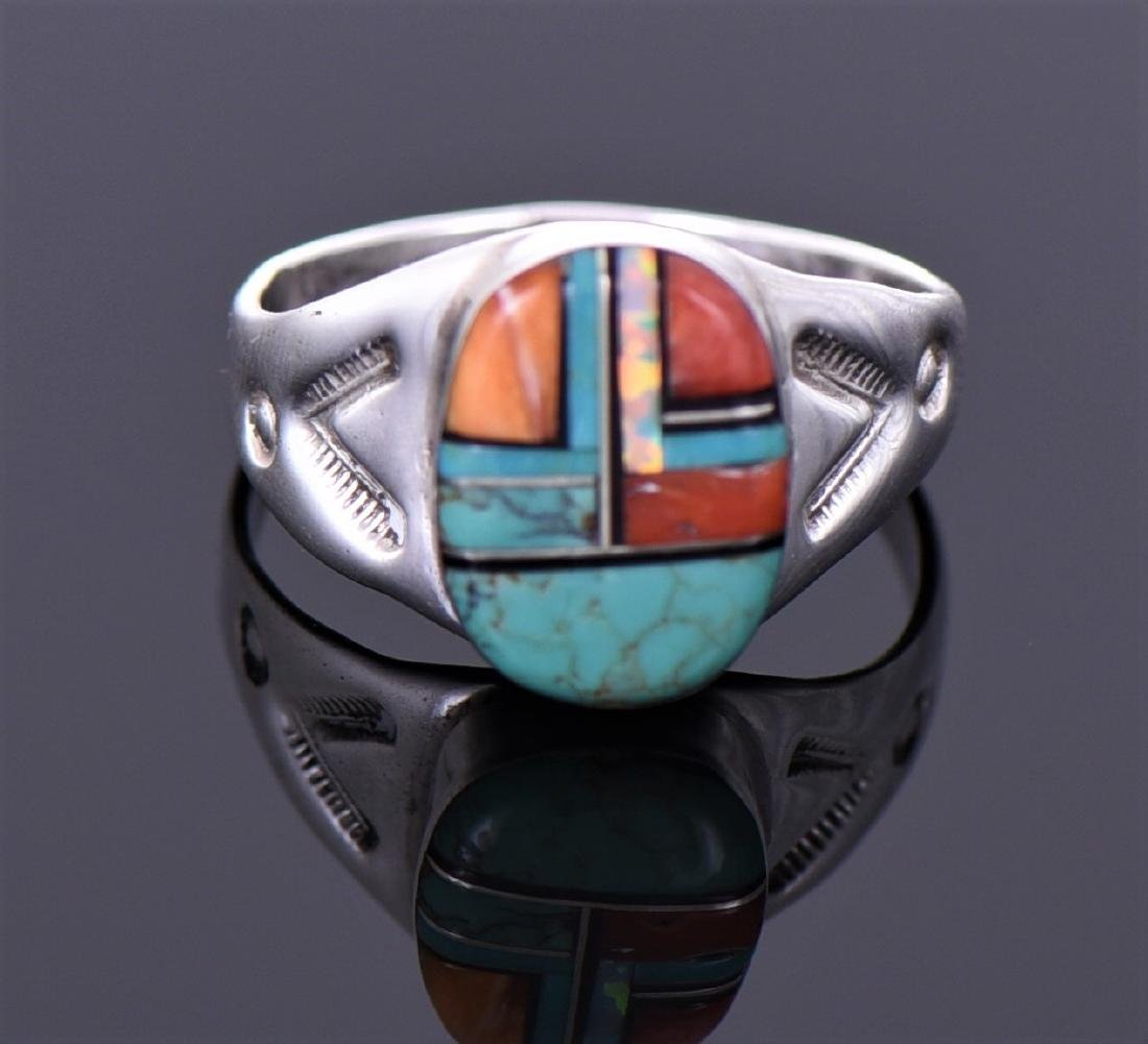 Ml, Zuni Native American Multi Stone Sterling